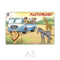 Omalovánka A5 Autobusy