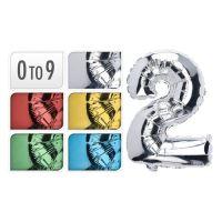 Balón narozeninový 35 cm, čísla 0-9, mix barev, 1ks