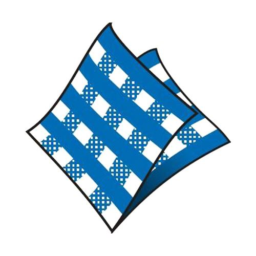 Ubrousky 1-vrstvé 33 x 33 cm karo modré 100 ks