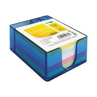Blok kostka barevná ve stojanu špalík 8,5 x 8,5 cm