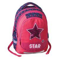 Školní batoh Maxx Play, Pink Star