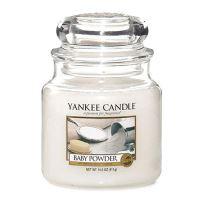 Svíčka Yankee Candle - Baby Powder, střední