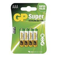 Batéria alkalická GP, AAA, 1,5V - 4ks