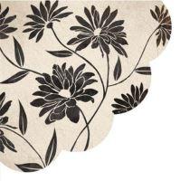 Obrúsky PAW R Flowery Decor black