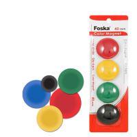 Magnetky - barevné, 40 mm / 4 ks