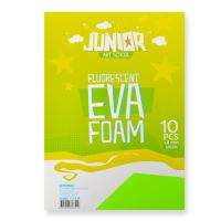 Dekorační pěna A4 EVA Fluo zelená 2,0 mm, sada 10 ks