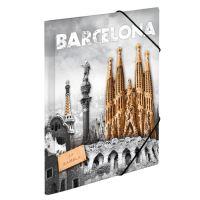 Deska s gumičkou PP A4 Barcelona