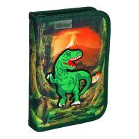 Penál 1-patrový / 2 klopy plný, 3D T-Rex