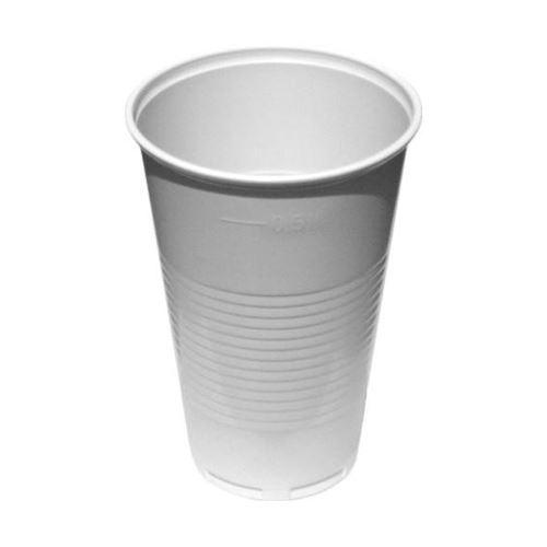 Pohár bílý 0,5 l, 50 ks