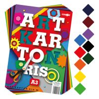 Složka barevného papíru - výkres ART CARTON RIS A3 250g (50 ks) mix 10 barev / x5
