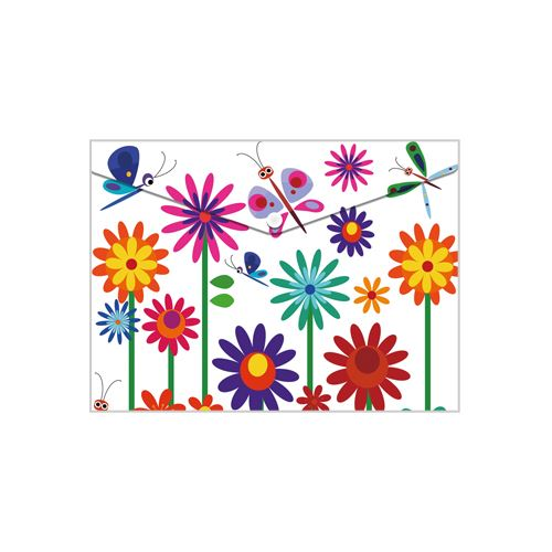 Obal PP s patentkou A5, Spring Flowers
