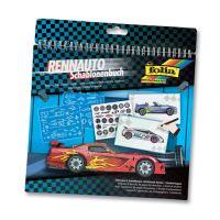 Kreatívny blok so šablónami veľký - Racing Car