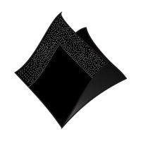 Ubrousky 2-vrstvé 33 x 33 cm černé 50 ks