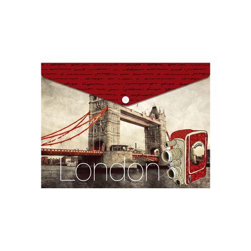Obal PP s patentkou A5, London Bridge