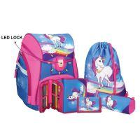 Školská taška - 5-dielny set, PRO LIGHT Unicorn, LED