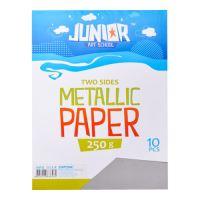 Dekorační papír A4 10 ks stříbrný metallic 250 g