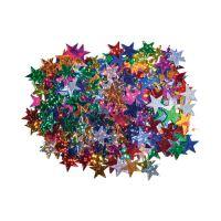 Dekorace hvězdy mix barev 15 mm 14 g