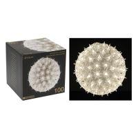 Koule - svítící 100 světel studená bílá, 15 cm