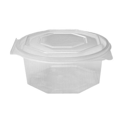 Miska osmihranná průhledná s víčkem 750 ml, 50 ks