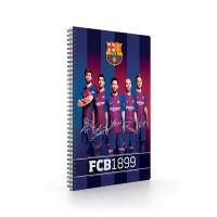 Blok A4 s boční spirálou, FC Barcelona