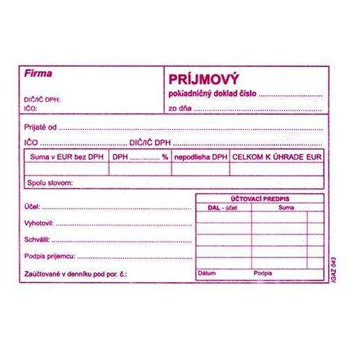 Příjmový pokl.doklad s DPH A6, samopr. (44)