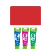Akrylová barva JUNIOR 120 ml karmínová červená 315