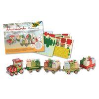 Adventný kalendár Vianočný vláčik, sada 60ks