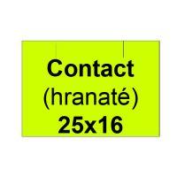 Etikety cen. CONTACT 25x16 hranaté - 1125 etikiet/kotúčik, žlté