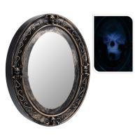 Dekorace Halloween - zrcadlo svítící se zvukem 25x33 cm, 1ks
