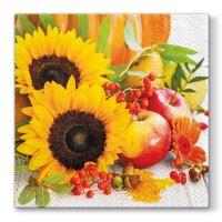 Ubrousky PAW L 33x33cm  Autumn Composition