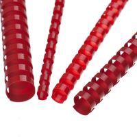Hřebeny plastové 6 mm červené