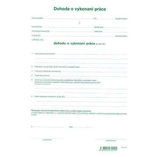 Dohoda o provedení práce A4 (10)