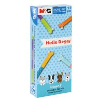 Roller Gumovací M&G iErase / Hello Doggy 0,5 mm, přepisovatelný, modrý
