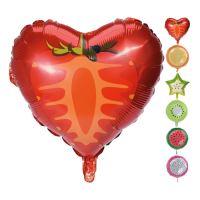 Balón s potlačou rôzneho ovocia 45 cm, mix/1ks