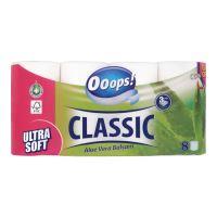 Toaletní papír Ooops! Classic Aloe Vera 3-vrstvý, 8 ks / bal