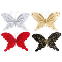 Motýl na klipu 20 cm - mix barev, 1ks