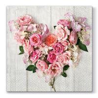 Ubrousky PAW L 33x33cm Rose Heart