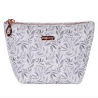 Kosmetická taška White Leaves - hranatá