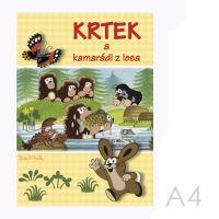 Omalovánka A4 - Krtek a kamarádi z lesa