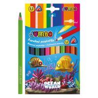 Pastelky Ocean World trojhranu JUMBO 12 ks
