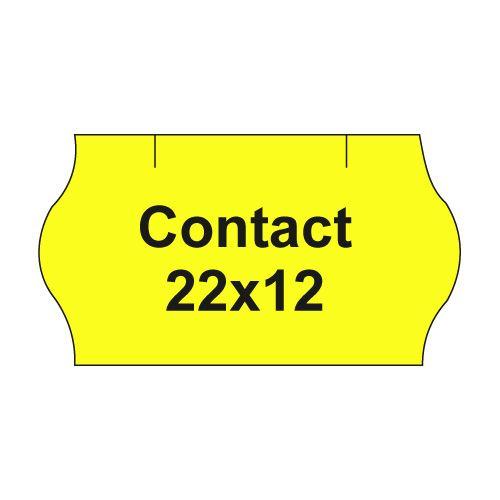 Etikety cen. CONTACT 22x12 oblé - 1500 etikiet/kotúčik, žlté