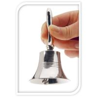 Dekorace - Zvonek stříbrný 11 cm, 1ks