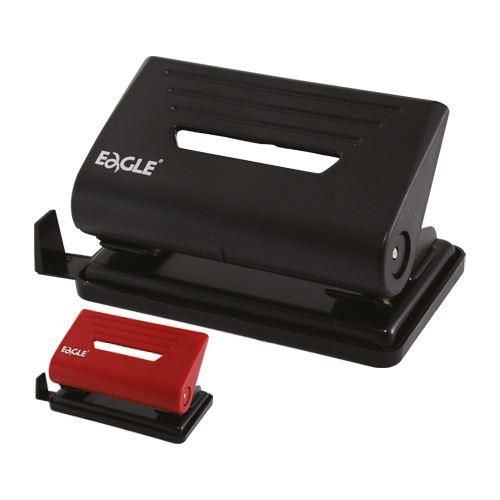 Dierovač Eagle 837 - do 25 listov, čierny, červený