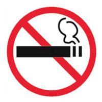"""Etikety - informačné """"Zákaz fajčenia"""", 114x114mm"""