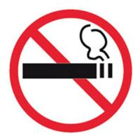 """Etikety - informační """"Zákaz kouření"""", 114x114mm"""