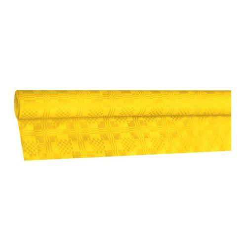 Obrus papírový rolovaný 8 x 1,20 m, žlutý