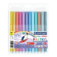 Fixy CENTROPEN 7550 Colour World Pastel - sada 12 ks