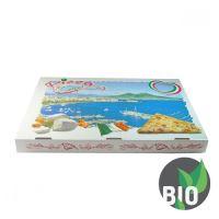 Krabice na pizzu z vlnité lepenky 60 x 40 x 5 cm, 50 ks