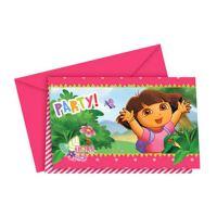 Detská pozvánka na párty - Dora