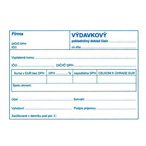 Výdajový pokl.. doklad pro podvo. účet. A6 (895)